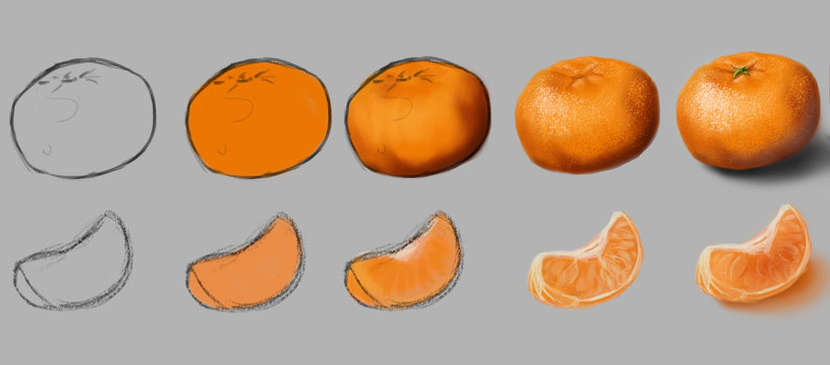 Work Through for Drawing a Mandarin
