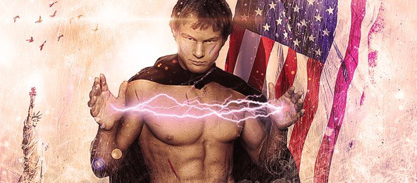 Photo Manipulating a Super Electrified Human