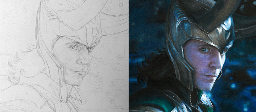 Drawing a Nice Portrait for Loki