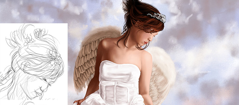 Painting A Beautiful Angel