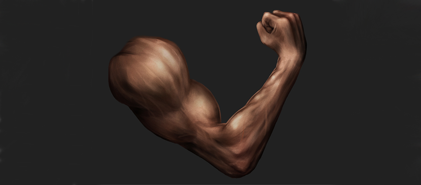 Painting a Strong Human Arm