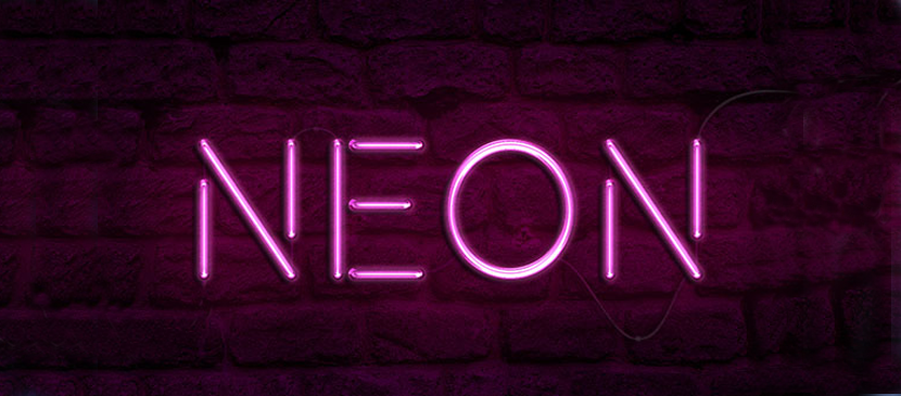 Apply a Neon Light Effect on Text
