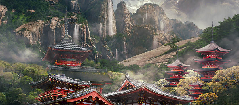 Making an Imaginative Landscape for Temples