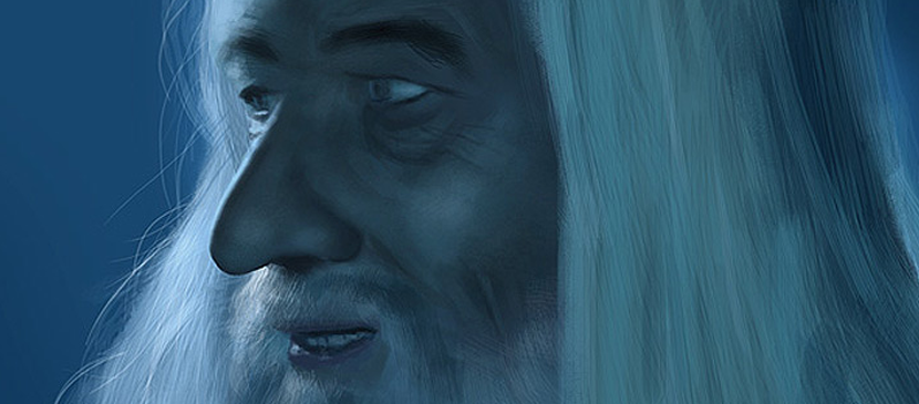 Painting a Realistic Gandalf