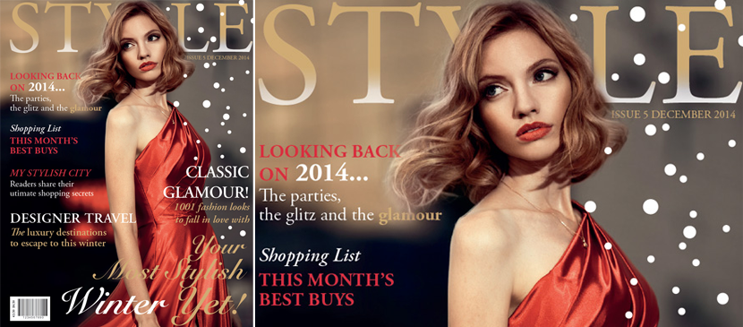 Making a Fashion Magazine Cover for your Image