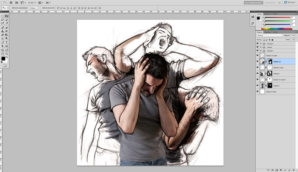 How to Place Sketches onto Photos-05