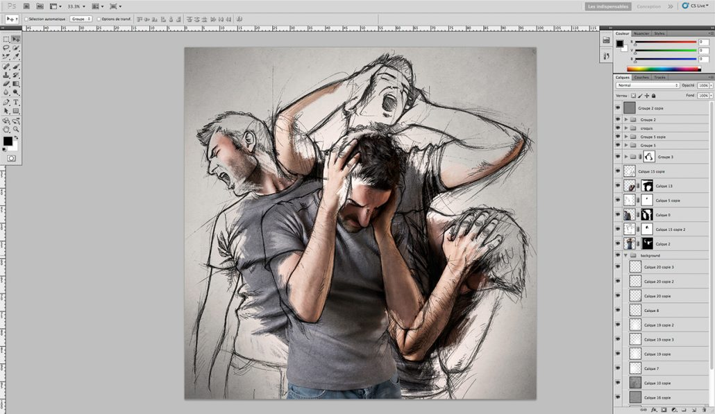 How to Place Sketches onto Photos-06
