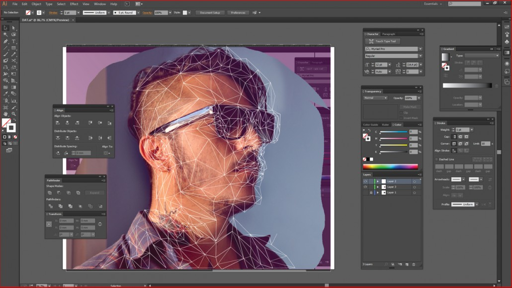 Low-poly Self Portrait Photoshop Tutorial-16