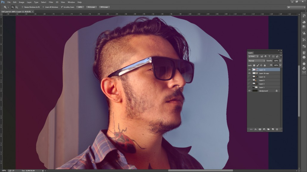 Low-poly Self Portrait Photoshop Tutorial-5