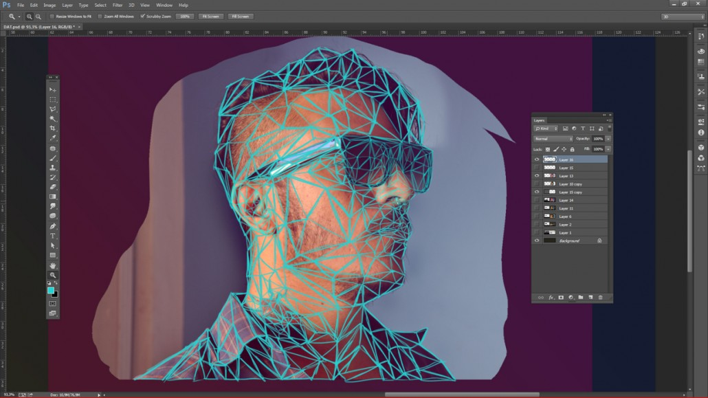 Low-poly Self Portrait Photoshop Tutorial-6