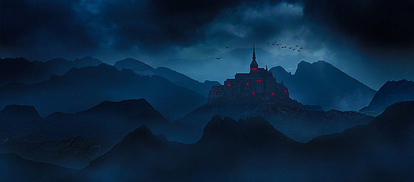 Creative Dark Landscape Matte Painting in Photoshop