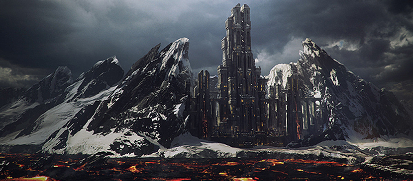 Creatively to Make a Mountain Fortress With Photoshop