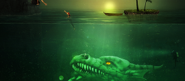 This Underwater Green Monster PS Scene