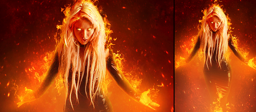 Learn to Create a Fantasy Fiery Portrait Manipulation