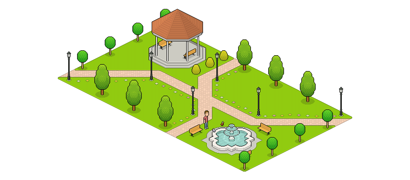 Create an Isometric Pixel Art Park in Adobe Photoshop