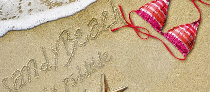Writing in Sand Text Style with Photoshop