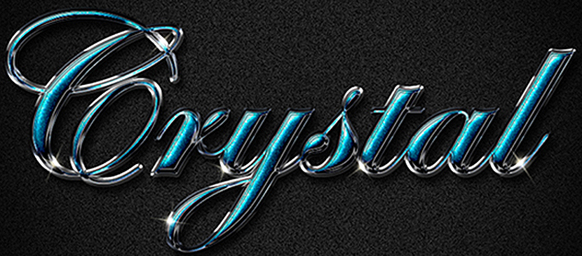Create a Shiny, Posh Crystal Text Effect