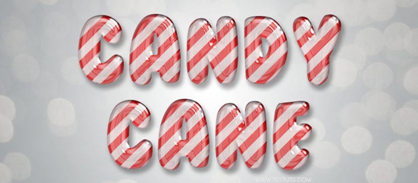 How to Create a Candy Cane Text Effect