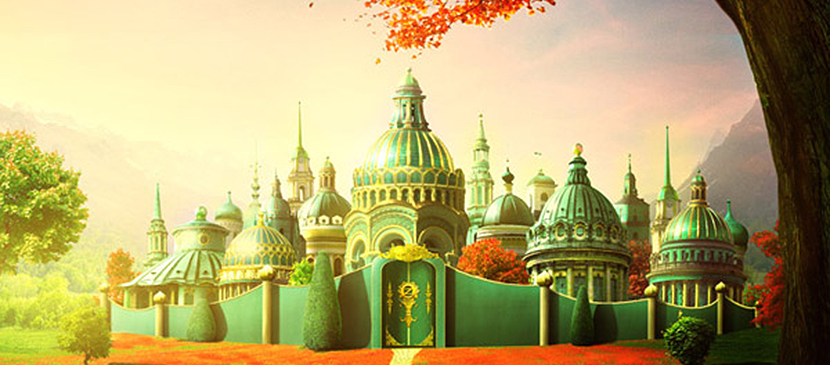 Create a Photo Manipulation of the Emerald City of Oz