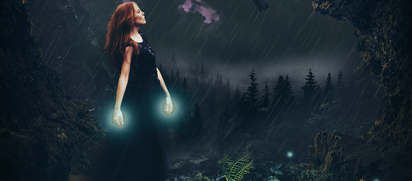 Create a Stormy Fantasy Scene of a Fairy