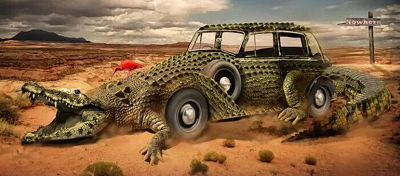 How to Create an Exotic Crocomobile in Photoshop