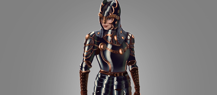 How to Digitally Paint a Shiny Metal Armor