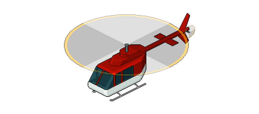 Let's Create an Isometric Pixel Art Helicopter