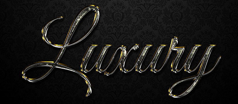 Easy to Create a Luxurious Text Effect in Adobe Photoshop